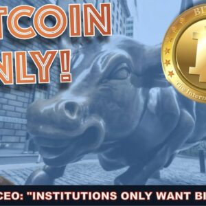 WARNING! BIG INSTITUTIONS ARE ONLY INTERESTED IN BITCOIN! DON'T BE FOOLED!! PERSONAL 100K INVESTING.