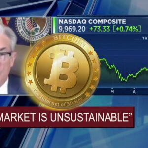 """Fed Chairman Powell - """"Markets are UNSUSTAINABLE."""" Bitcoin & Crypto COLLAPSE w Traditional Markets?"""