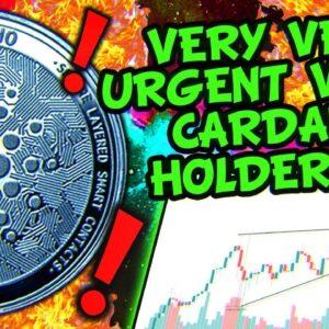 CARDANO FUD TO $0.70!!?? BITCOIN CRASHING THE MARKET!!!?