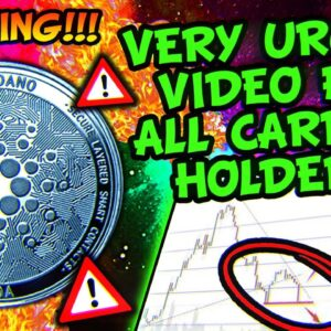 CARDANO IS NOT LOOKING GOOD HERE!!! NEXT STOP $0.8???