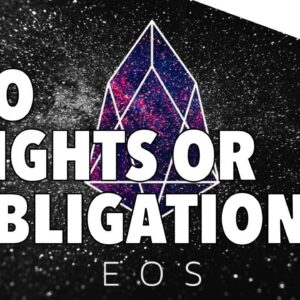EOS Mini Series - Part 7 - WTF? $1B Token Sale With No Rights or Obligations?