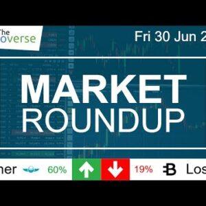 IOTA Survives / Gnosis +60% / ByteCoin -19% / BTC ETH & LTC Charts (Market Roundup 30 Jun 2017)