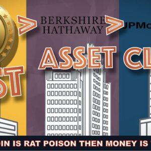 BITCOIN Passes The Market Cap of JP MORGAN & BERSKSHIRE HATHAWAY. Another BILLION $ INSTITUTION IN.