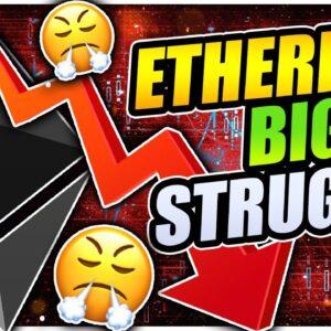 ETHEREUM MINER FUD CRASH TO $1,400!!!?? BITCOIN SHOWING STRENGTH!!!
