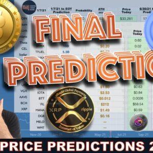 FINAL CRYPTO PRICE PREDICTIONS 2021 - ENTIRE PORTFOLIO