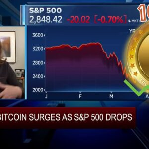 BITCOIN and the STOCK MARKET DE-COUPLE during 10K PUSH. Will IT LAST? + IBM & Stellar XLM