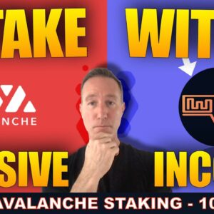 HOW TO STAKE AVALANCHE (AVAX) FOR 10% YIELD!