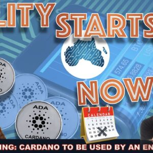 LIVE: CRYPTO NEWS: CARDANO TO BE USED BY AN ENTIRE NATION (UTILITY!)