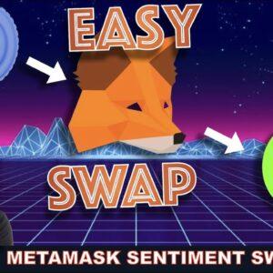 SIMPLE METAMASK SET UP AND TOKEN SWAP ON ZERO EXCHANGE (SENTIMENT) PLUS VOYAGER.