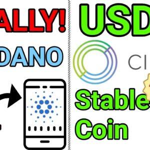 New ADA Cardano Phone Wallet / New Circle Dollar Stablecoin