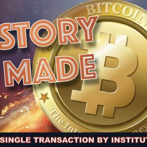 HISTORY IS MADE: 1 TRILLION Market Cap & Institution Makes One Of The LARGEST BITCOIN TRADES EVER.