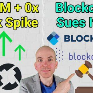Steem + ZRX Freak Price Spike / Blockchain Sues Blockchain