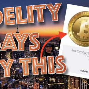BTC PUMP: FIDELITY REPORT REVEALS 18 COMPANIES HOLD 3% OF ALL BITCOIN (AND GROWING). XRP as BRIDGE?