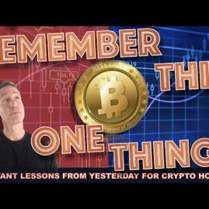 THE ONE IMPORTANT LESSON FROM YESTERDAYS BITCOIN & CRYPTO CRASH.