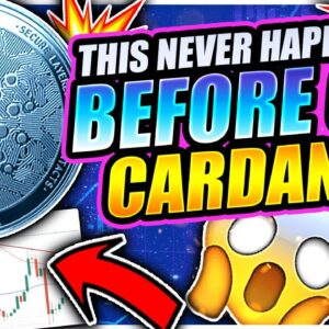 THIS NEVER HAPPENED BEFORE ON CARDANO!!!! (crazy)