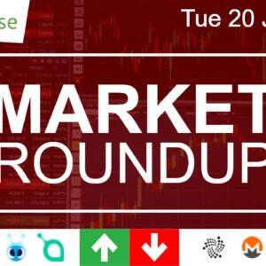 AntShares + SiaCoin Up / IOTA + Monero Down / Veritaseum Gaining Fast (Market Roundup 20 Jun 2017)