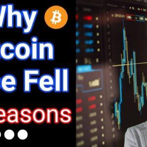Why Bitcoin Fell 📉 (3 Major Reasons)