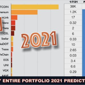 My ENTIRE 2021 Portfolio WITH PRICE PREDICTIONS for Bitcoin, ETH, ADA, Celsius, VGX WITH TIMESTAMPS